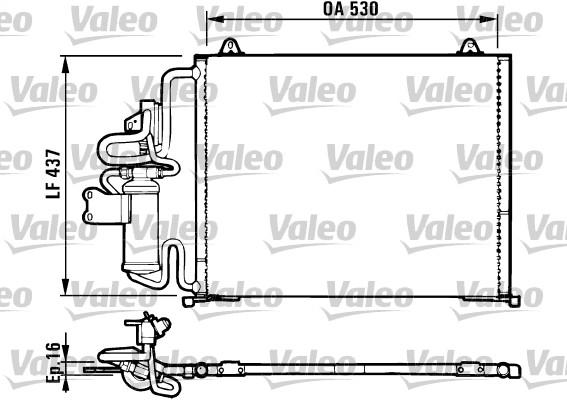 Condenseur, climatisation - VALEO - 816987