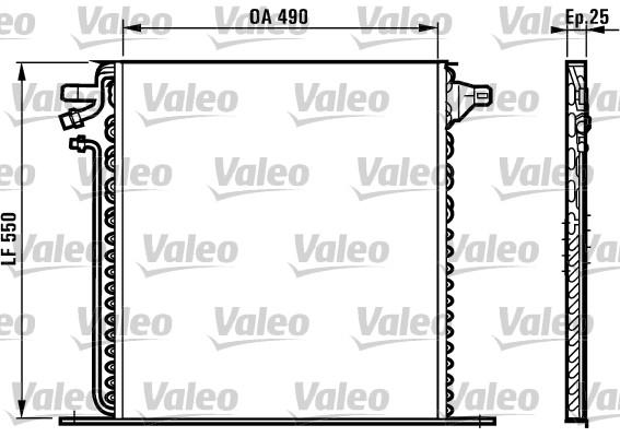 Condenseur, climatisation - VALEO - 817011
