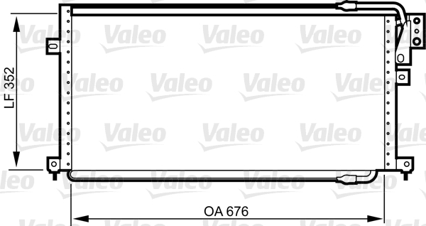 Condenseur, climatisation - VALEO - 817015