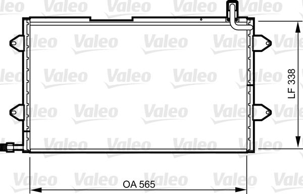 Condenseur, climatisation - VALEO - 817024