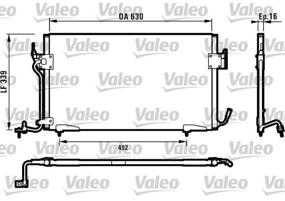 Condenseur, climatisation - VALEO - 817042
