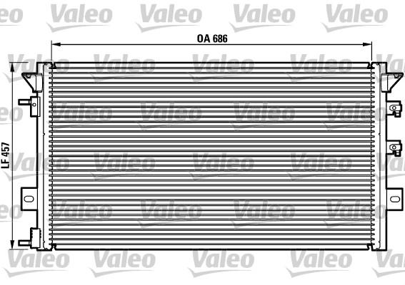 Condenseur, climatisation - VALEO - 817073