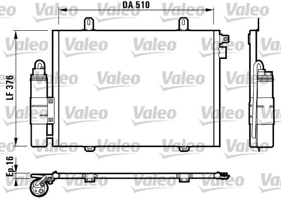 Condenseur, climatisation - VALEO - 817171