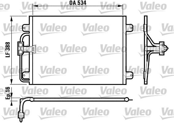 Condenseur, climatisation - VALEO - 817197
