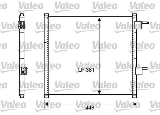 Condenseur, climatisation - VALEO - 817225