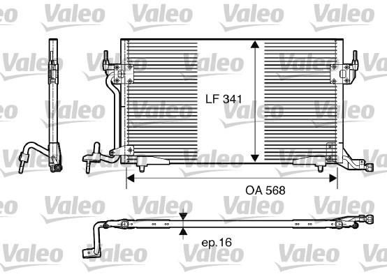 Condenseur, climatisation - VALEO - 817230