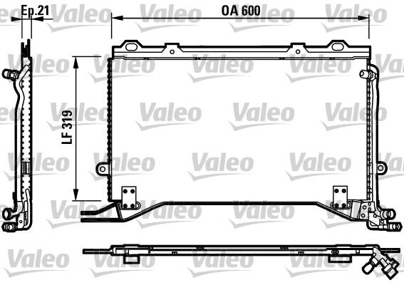 Condenseur, climatisation - VALEO - 817235