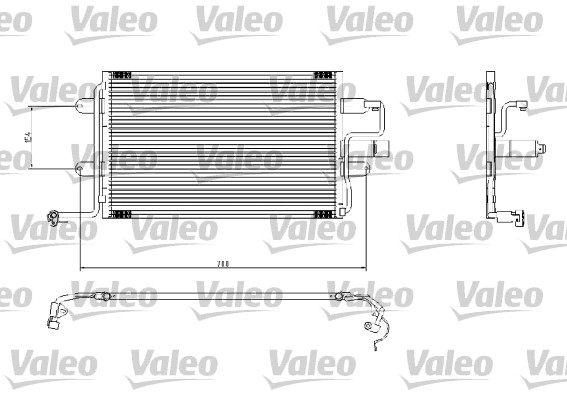 Condenseur, climatisation - VALEO - 817244