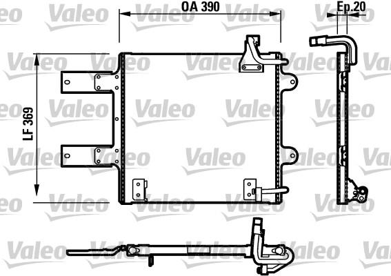 Condenseur, climatisation - VALEO - 817246