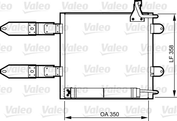 Condenseur, climatisation - VALEO - 817247