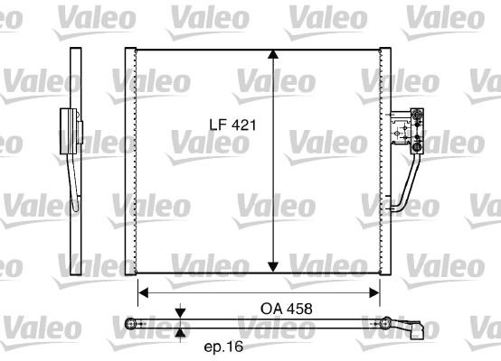 Condenseur, climatisation - VALEO - 817248