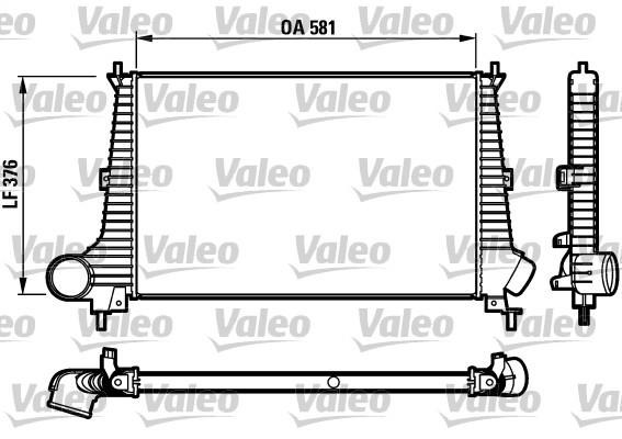 Intercooler, échangeur - VALEO - 817275