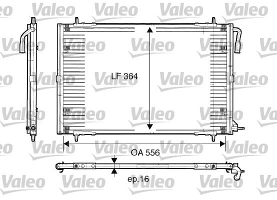 Condenseur, climatisation - VALEO - 817283