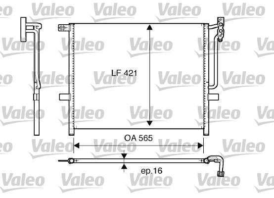 Condenseur, climatisation - VALEO - 817383