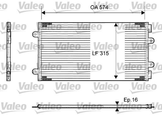 Condenseur, climatisation - VALEO - 817385