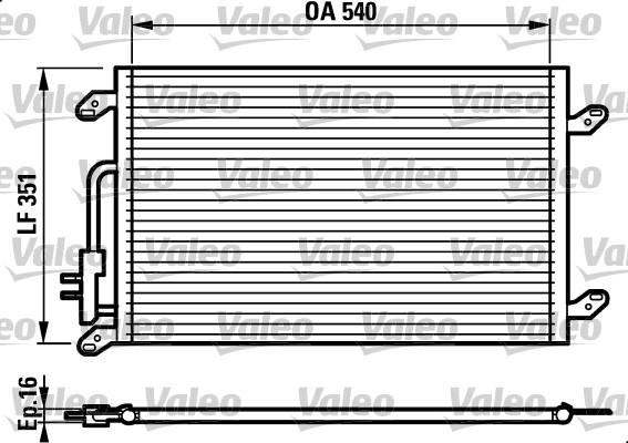 Condenseur, climatisation - VALEO - 817386