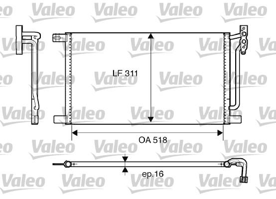 Condenseur, climatisation - VALEO - 817405