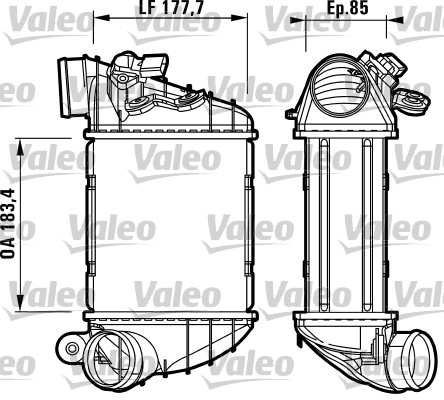 Intercooler, échangeur - VALEO - 817438