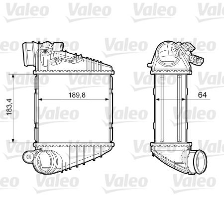 Intercooler, échangeur - VALEO - 817457