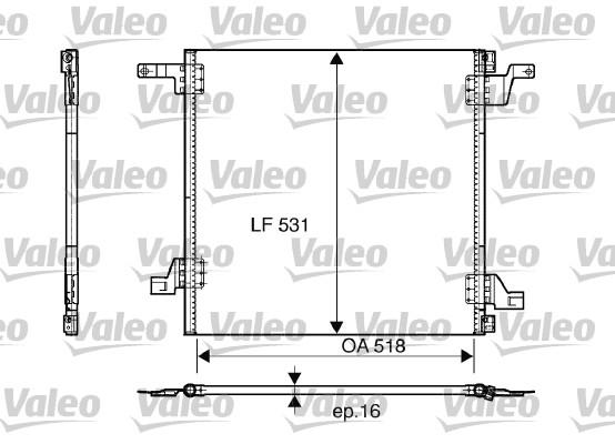 Condenseur, climatisation - VALEO - 817458