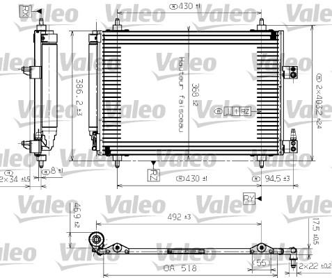 Condenseur, climatisation - VALEO - 817464
