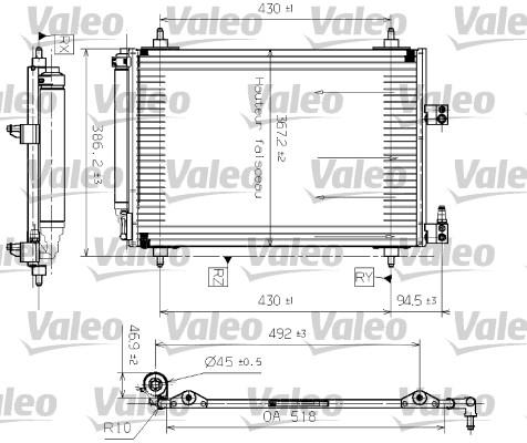 Condenseur, climatisation - VALEO - 817465