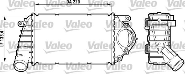 Intercooler, échangeur - VALEO - 817486