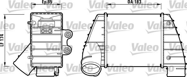 Intercooler, échangeur - VALEO - 817487