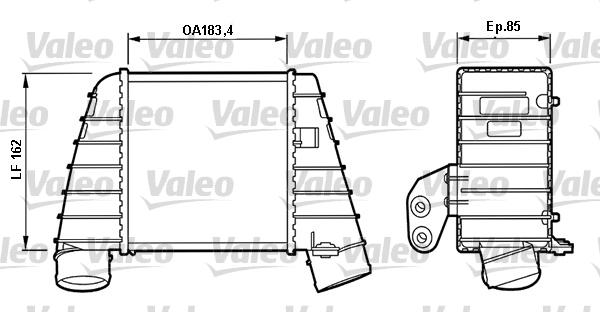 Intercooler, échangeur - VALEO - 817488