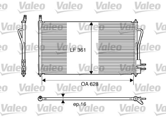 Condenseur, climatisation - VALEO - 817493