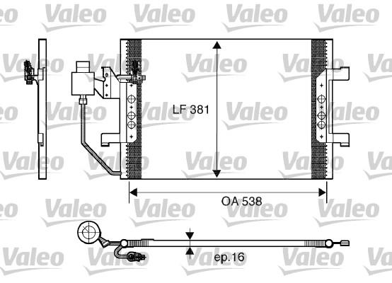 Condenseur, climatisation - VALEO - 817504