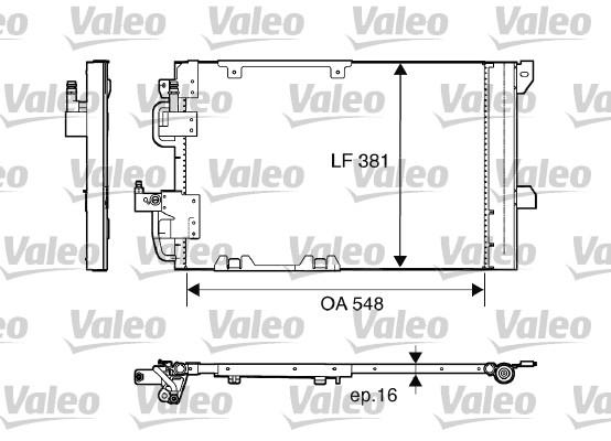 Condenseur, climatisation - VALEO - 817505