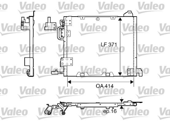 Condenseur, climatisation - VALEO - 817506