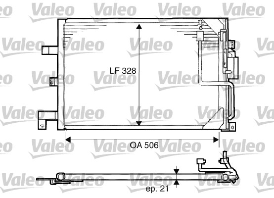 Condenseur, climatisation - VALEO - 817507