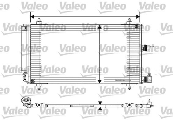 Condenseur, climatisation - VALEO - 817508