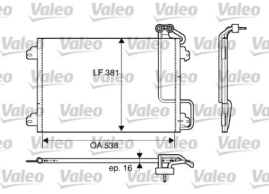 Condenseur, climatisation - VALEO - 817509