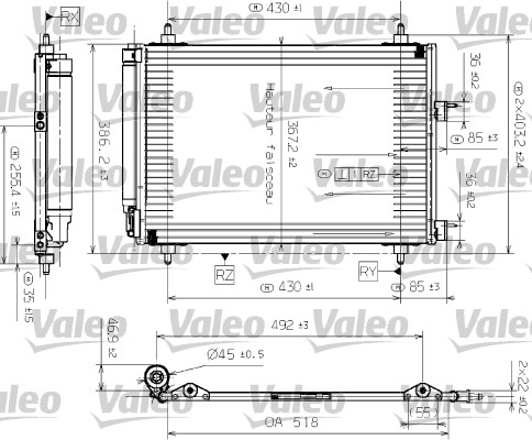 Condenseur, climatisation - VALEO - 817524