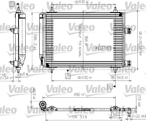 Condenseur, climatisation - VALEO - 817526