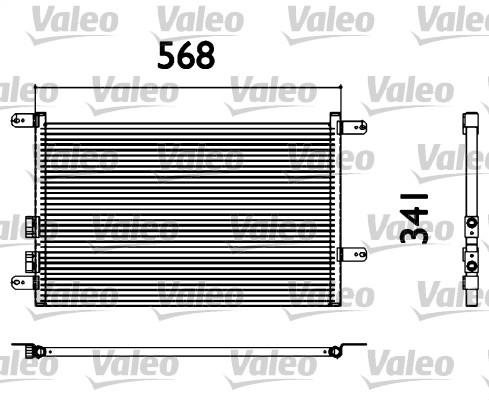 Condenseur, climatisation - VALEO - 817527