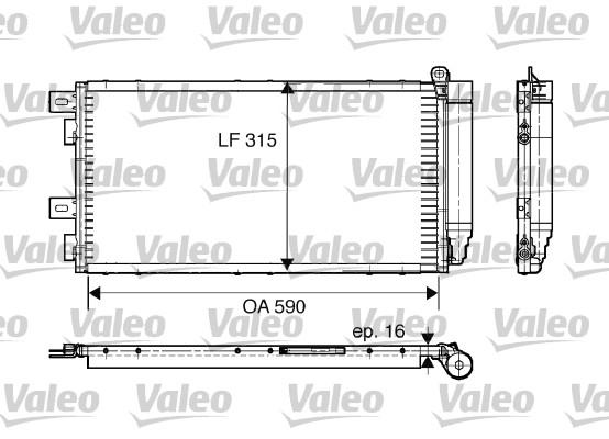 Condenseur, climatisation - VALEO - 817547