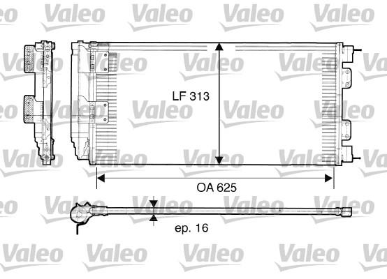 Condenseur, climatisation - VALEO - 817549