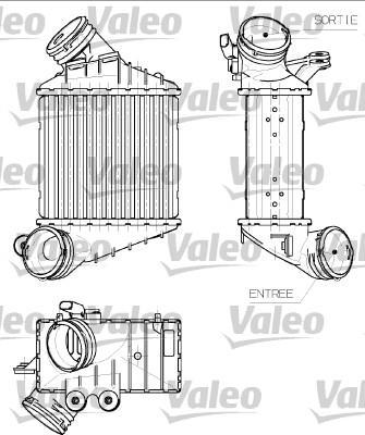 Intercooler, échangeur - VALEO - 817555