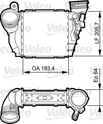 Intercooler, échangeur - VALEO - 817557
