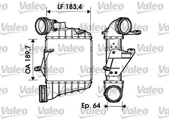 Intercooler, échangeur - VALEO - 817558