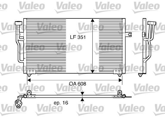 Condenseur, climatisation - VALEO - 817559