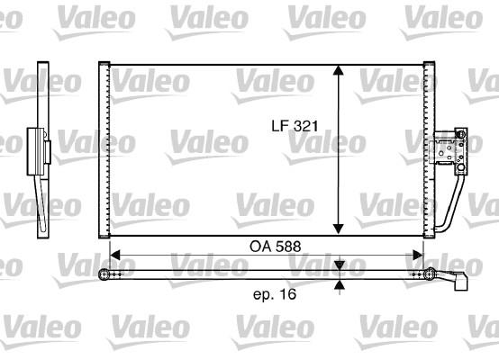 Condenseur, climatisation - VALEO - 817561