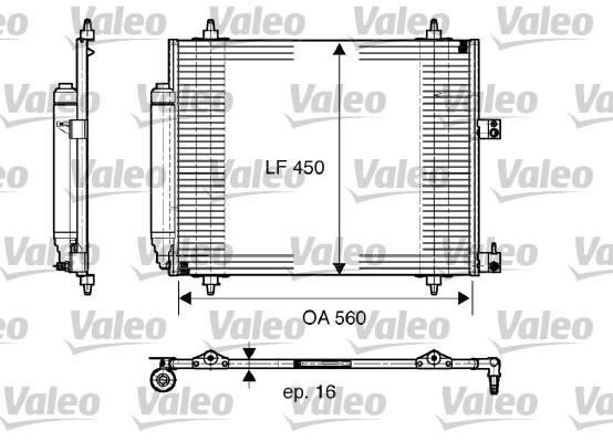 Condenseur, climatisation - VALEO - 817579