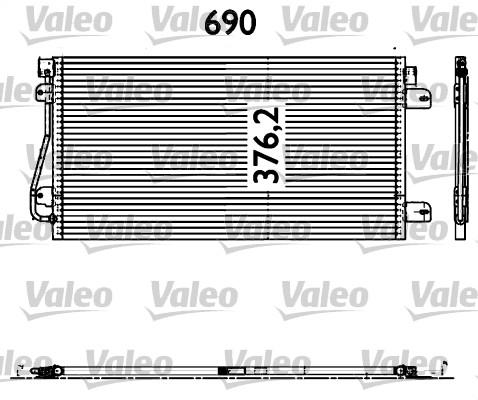 Condenseur, climatisation - VALEO - 817601