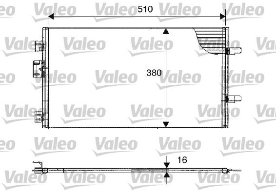 Condenseur, climatisation - VALEO - 817602