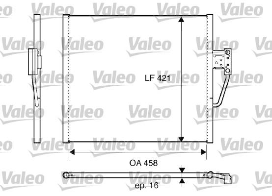 Condenseur, climatisation - VALEO - 817607